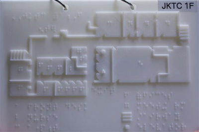 A portable and durable 3D-printed tactile map with braille for the Joseph Kohn Training Center in New Brunswick - Photo Credit: Cameron Bowman