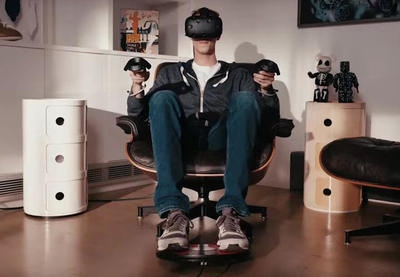 The 3dRudder foot-powered game controller designed for Virtual Reality and gaming.