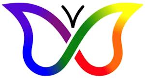 Popular ADHD rainbow butterfly awareness symbol.