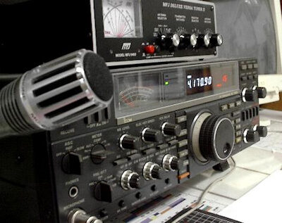 Typical home amateur radio station.