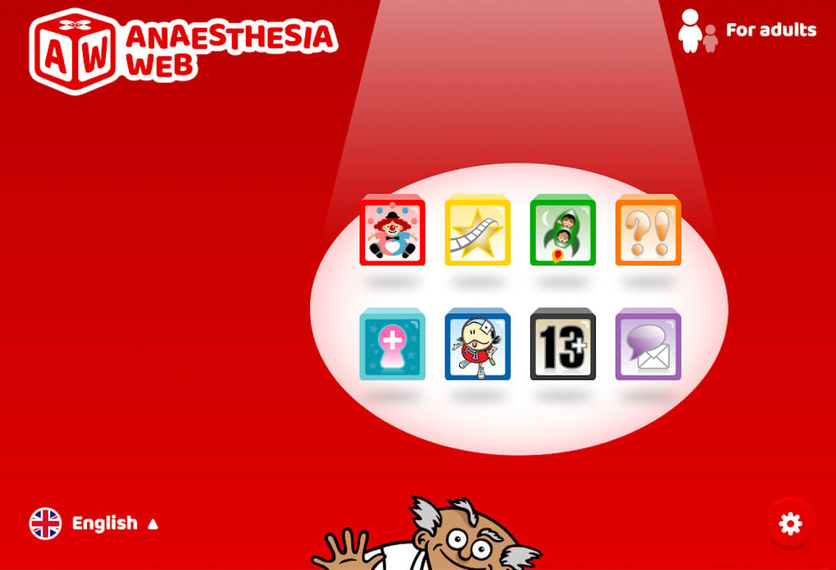 Screenshot of The Anaesthesia Web website.