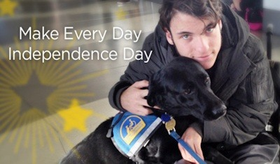 Canine Companions for Independence assistance dog team Adam and Kiki