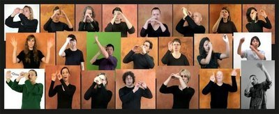 The word Astronomy as it is represented in Sign Language in different counties (Image Credit: IAU-C1 WG3 and Collaborators).