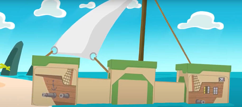BigBoxPlay PirateShip - Screenshot from the video product example.