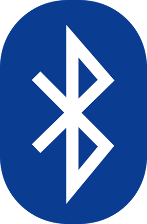 Blue and white Bluetooth Logo