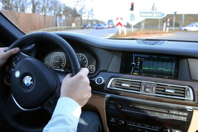 BMW Health Check System installed in steering wheel