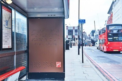 The special build Maltesers advert billboard created by AMV BBDO for World Braille Day 2017