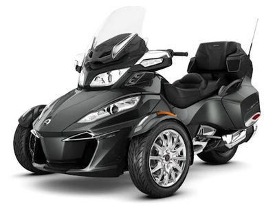 Metallic Grey colored 2017 Can-Am Spyder RT Limited SE6.
