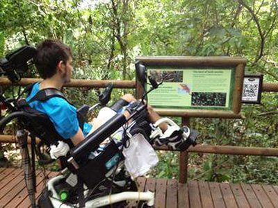 Carara National Park is one of the few protected areas in Costa Rica designed for people with disabilities, including low-incline paved trails, Braille and other information aids, and handicap-accessible bathrooms. Photo Credit Wikimedia Commons