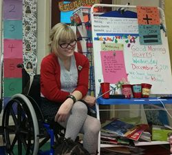 Carolyn Diaz teaches her class of elementary school students with disabilities