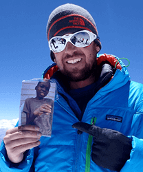 Chris Bombardier, Save One Life Board Member and Mountaineer.