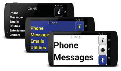 Claria Zoom Home Screen