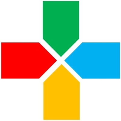 ivaluehealth.net company logo featues a plus symbol with red, green, blue, and yellow pointer/arm segments.