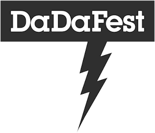 Black and white image of DaDaFest Logo.