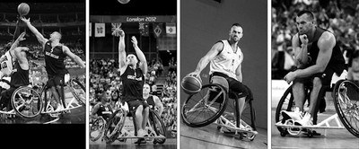 Paralympian Dan Highcock Playing Wheelchair Basketball