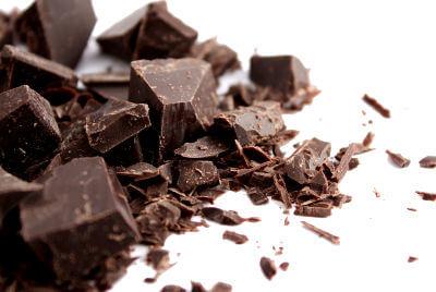 Dark chocolate pieces.