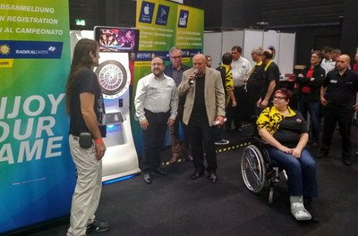 RadikalDarts Machine Model 137 provides accessible dart playing for people with disabilities.