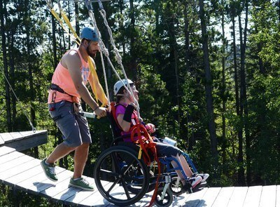 Easter Seals campers transcend obstacles at fully accessible summer camp environments. (CNW Group/Easter Seals Canada)