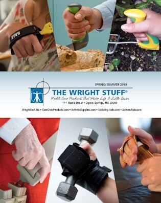 Catalog cover from The Wright Stuff - Their health care products catalog includes adaptive daily living aids, specialty products and supplies for people with disabilities, the elderly and seniors. For their latest online catalog visit: www.thewrightstuff.com/current-online-catalog (PDF) - Image Credit: The Wright Stuff.