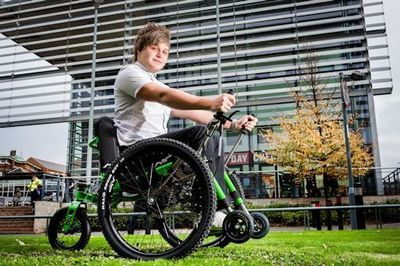 ICT student Ben Cook used the Mountain Trike and could see the benefit of having the Trike available