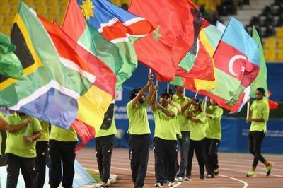 Flag parade during Closing Ceremony