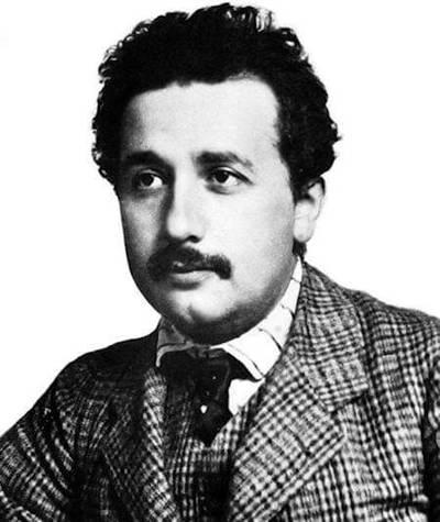 Photograph of German born theoretical physicist Albert Einstein taken around 1904-05.