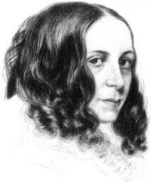 Portrait drawing of Elizabeth Barrett Browning