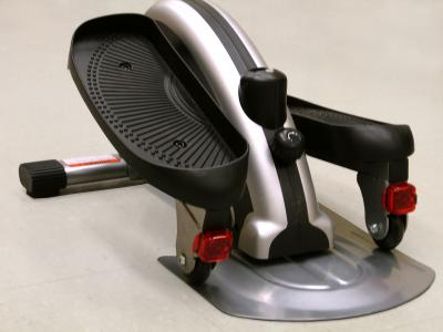 This image shows the small, under desk elliptical exercise device. Photo Credit: Penn State