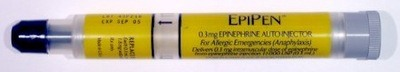 EpiPen epinephrine dispensing device - Image Credit: Wikipedia - Image not part of press release.