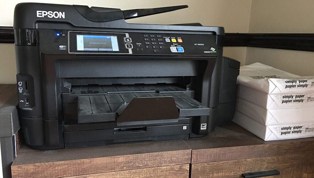 Epson ET-16500 all-in-one printer, scanner and fax machine.