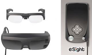 eSight eyewear device and glasses