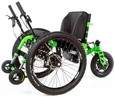 The eTrike is a new all terrain wheelchair from The Mountain Trike Company.