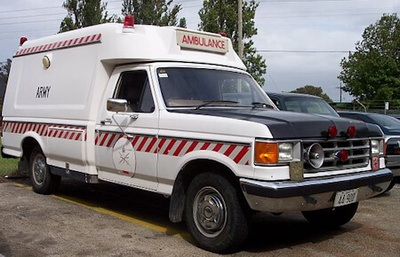 1989 Ford F-250 ambulance as used by the Australian Army on bases around Australia throughout the 1990's.