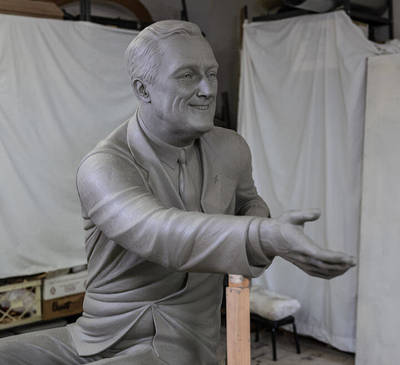 FDR clay sculpture
