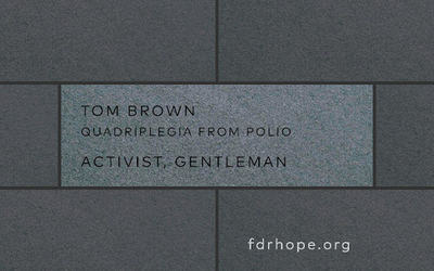 Tom Brown tribute stone