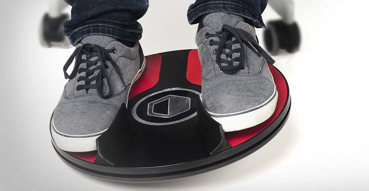 Image of the 3dRudder foot controlled mouse designed for people unable to use a mouse using their hands.