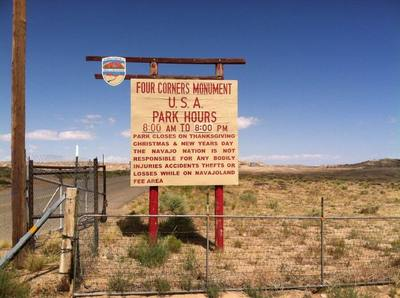 Image of the sign at Four Corners