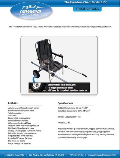 Freedom Chair Specifications