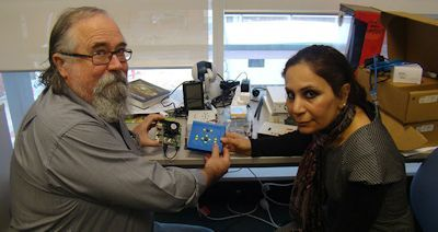 Senior Lecturer Dr Iain Murray and PhD student Azadeh Nazemi developed a digital reading system for people who are blind, allowing them to read graphical material.