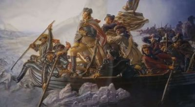 Art Picture - George Washington Crossing the Delaware River - Painted by Emanuel Leutze