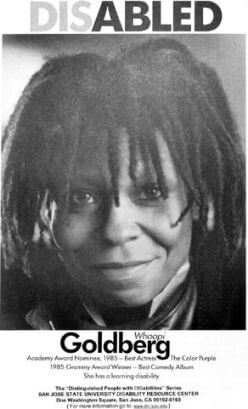 Whoopi Goldberg disability