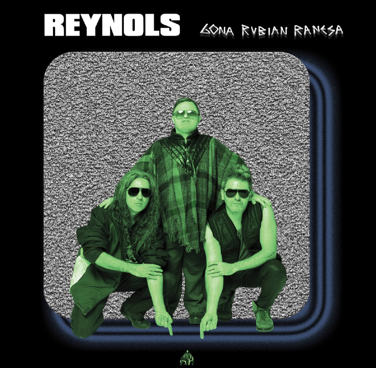 Cover picture of Reynols Gona Rubian Ranesa album, which is pressed on translucent alien green vinyl.
