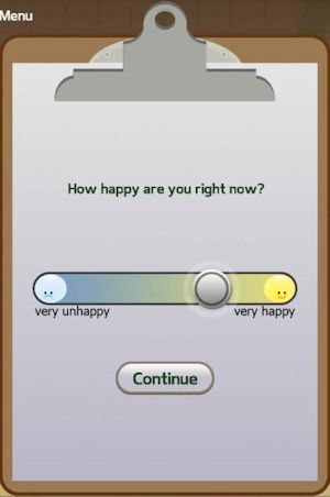 As part of the Great Brain Experiment smartphone app, users are periodically asked how happy they feel. Picture Credit: Robb Rutledge, UCL