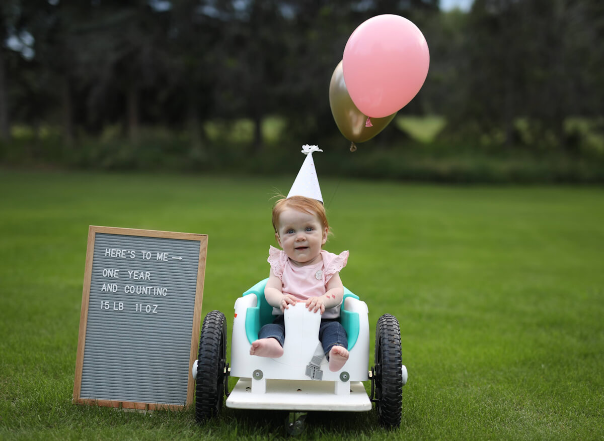 Harper Hanki at her first birthday.