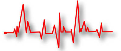 Illustration of pulse rate or heart rate electrocardiography.