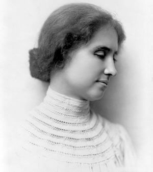 Fig. 1 - Perhaps the most well known blind person was Helen Adams Keller (June 27, 1880 - June 1, 1968).