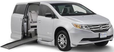 Wheelchair accessible Honda Odyssey Mini-Van.