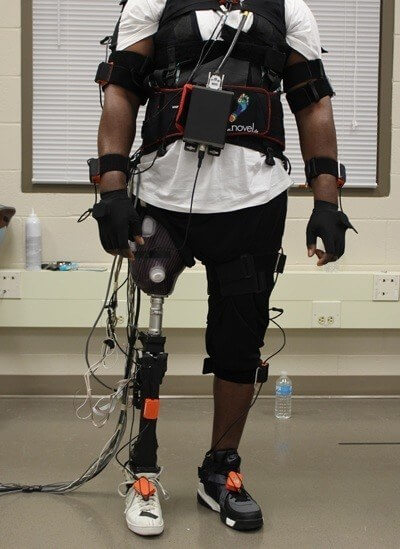 Huang's work focuses on technology that translates electrical signals in human muscle into signals that control powered prosthetic limbs - Photo credit: Helen Huang.