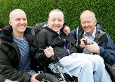 Iain, with his Dad Graham and his brother Callum