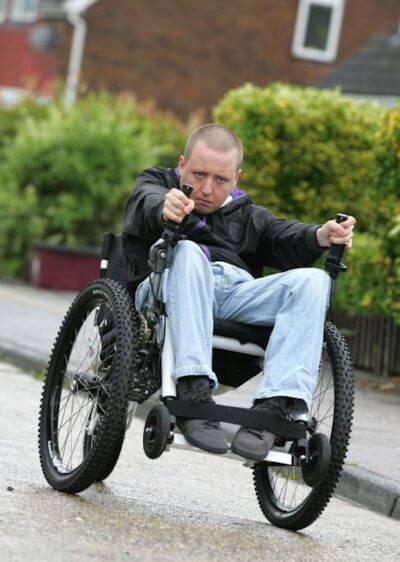 Iain in his Mountain Trike